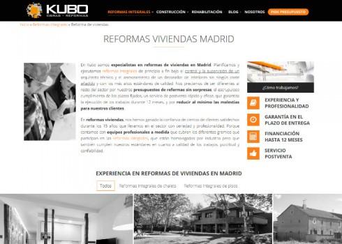 Página web Kubo servicio
