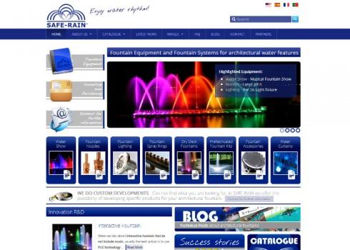 Página web Safe-Rain inicio