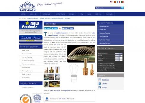Página web Safe-Rain producto
