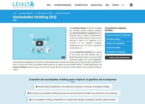 Página web Leialta servicios